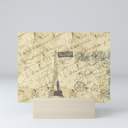 Parisian French Script Mini Art Print