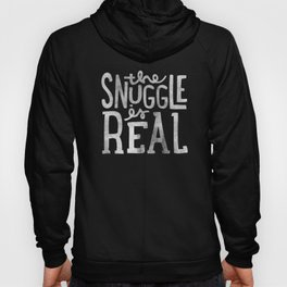 Snuggle is real - black Hoody