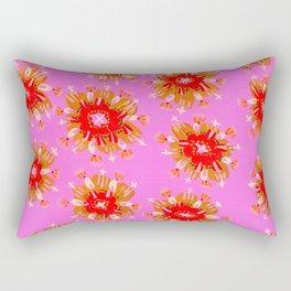 Orange Christie Rose Rectangular Pillow
