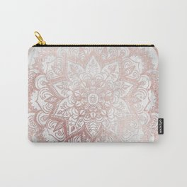 Rose Gold Mandala Star Carry-All Pouch