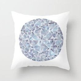 Grey Round Gem Throw Pillow