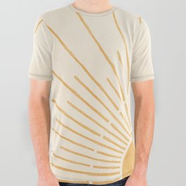 Sun #5 Yellow All Over Graphic Tee