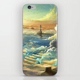 on shore of the sky iPhone Skin