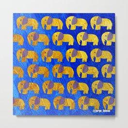 Golden elephant ecopop Metal Print