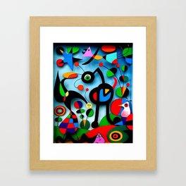 The Garden by Miro Framed Art Print