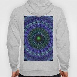 Detailed mandala in dark blue tones Hoody