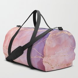 Blush and Purple Sky with Rose gold flashes Duffle Bag