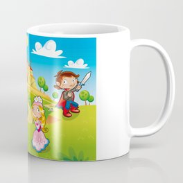Medieval Age - Princess, Prince, Dragon, Magician. Coffee Mug