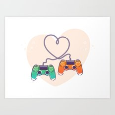 Play Love Art Print