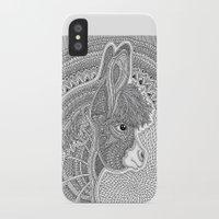 donkey iPhone & iPod Cases featuring Donkey by Olya Goloveshkina