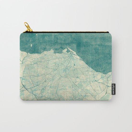 Edinburgh Map Blue Vintage Carry-All Pouch