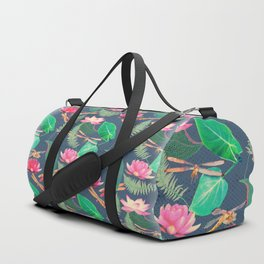 Lotus Flowers and Dragonflies Duffle Bag