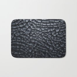 Gothic texture | Black and grey texture | Cracked design Bath Mat