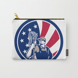 American Industrial Cleaner USA Flag Icon Carry-All Pouch