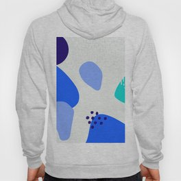 Blue abstract pattern Hoody