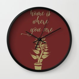 Home is where you are, family love print Wall Clock