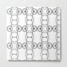 BMX Pattern Metal Print