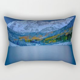 Maroon Bells at Dawn Rectangular Pillow
