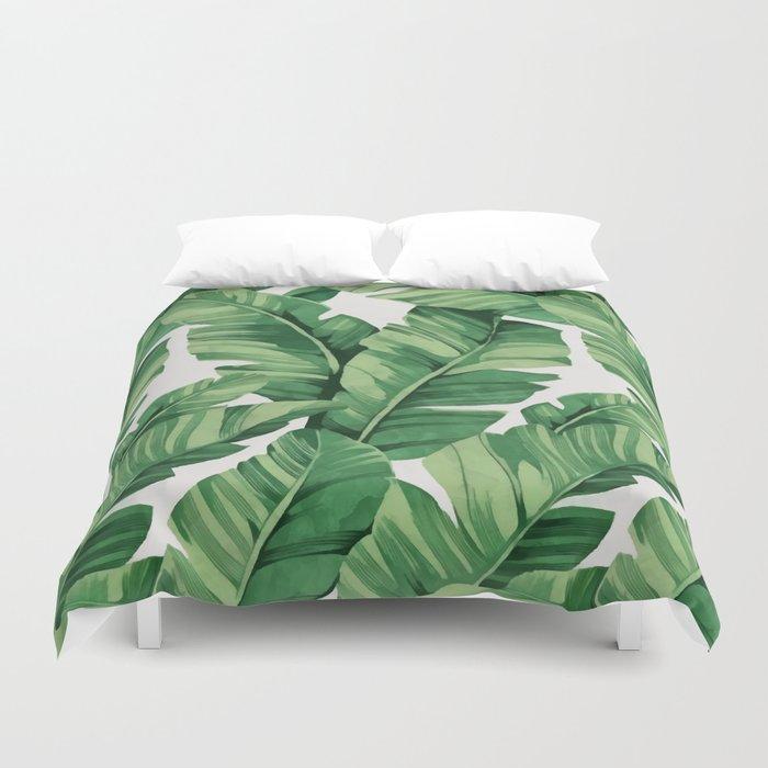 Tropical banana leaves Bettbezug