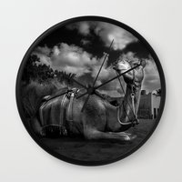 camel Wall Clocks featuring Camel by Sadiq