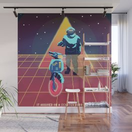 Synthwave Scooter-naut Wall Mural