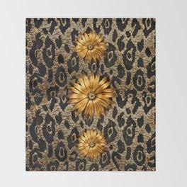 Animal Print Cheetah Triple Gold Throw Blanket