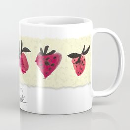 Watercolor Strawberries Coffee Mug