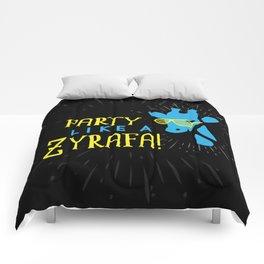 Party Like a Zyrafa! Comforters