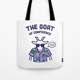 The Goat of Confidence Tote Bag