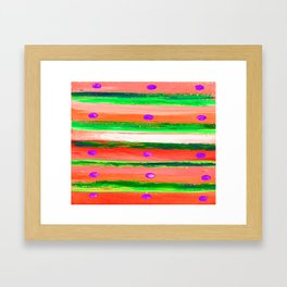 DOTS AND LINES CORAL Framed Art Print