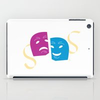 theatre iPad Cases featuring Theatre Masks by G_Stevenson