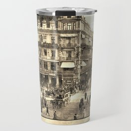 Berlin retro antique Unter den Linden travel ad sepia Travel Mug