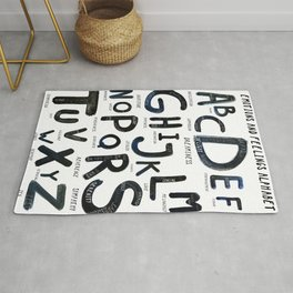 Emotional alphabet Rug