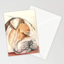 English bulldog Alfie Stationery Cards