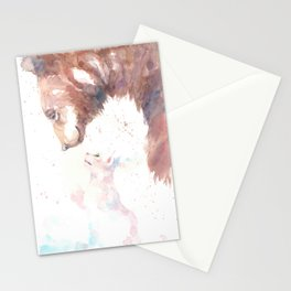 The bear, the cat and the tree of truth Stationery Cards