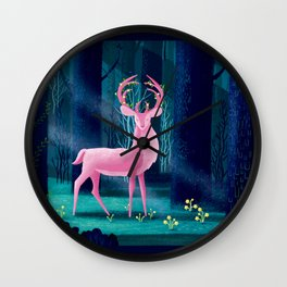 King Of The Enchanted Forest Wall Clock