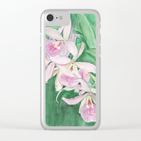Orchid Cascade Clear iPhone Case