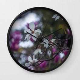 Magnolias Wall Clock