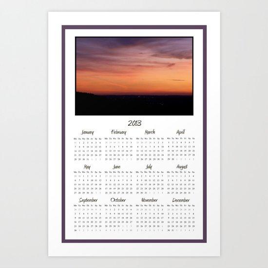 2013 Sunset Photo Calendar Art Print