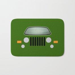 green jeep Bath Mat