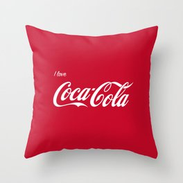 I love cocoa cola red Throw Pillow