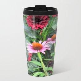 Floral Delight Metal Travel Mug