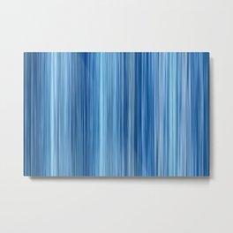 Ambient #1 in Blue Metal Print
