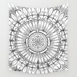 Flower Mandala Wall Tapestry