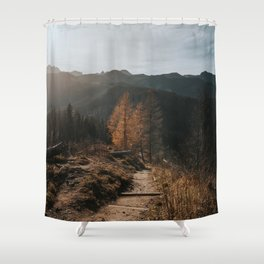 Autumn Hike - Landscape and Nature Photography Shower Curtain