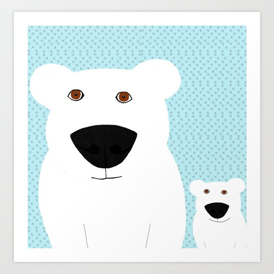 Winter - Polar Bear 2 Art Print