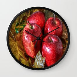 Red Apples Wall Clock