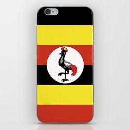 Uganda flag emblem iPhone Skin