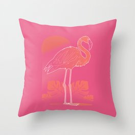 Flamingo Sunset Throw Pillow