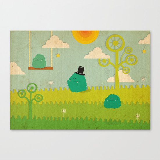 LILLL Monsters Canvas Print